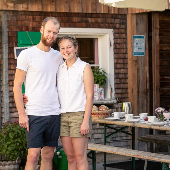 Matthias Giselbrecht und Nicole Steurer von der Alpe Stongen | Foto: Weissengruber & Partner