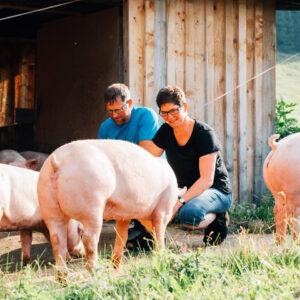 Alpe Kassa Wildmoos, Familie Eberle, Ländle Alpschwein, Foto: Weissengruber