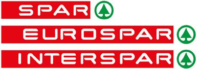Logo Von SPAR, EUROSPAR Und INTERSPAR Untereinander