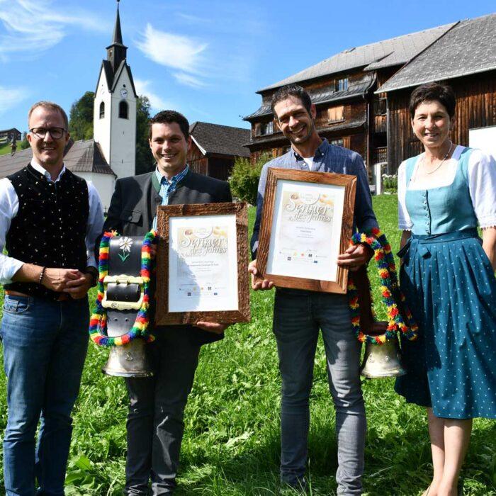 Die Senner des Jahres sind Christoph Schwarzmann und Daniel Fink. © LK Vorarlberg