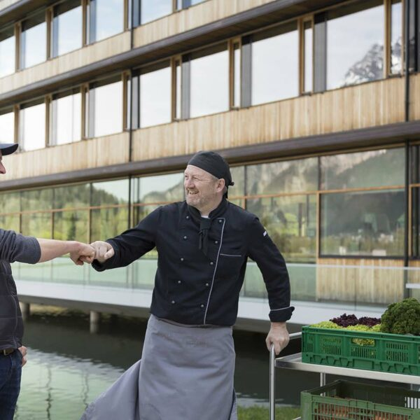 Bernhard Schrottenbaum (Gauensteiner Hof) mit Küchenchef Reinhard Fürst
